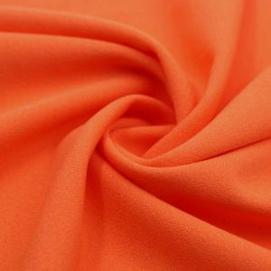 Tangerine Scuba Crepe Techno Knit Fabric by the Yard