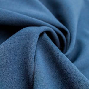 Teal Dark Scuba Crepe Techno Knit Fabric by the Yard