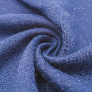 Navy French Terry Brushed Fleece Fabric