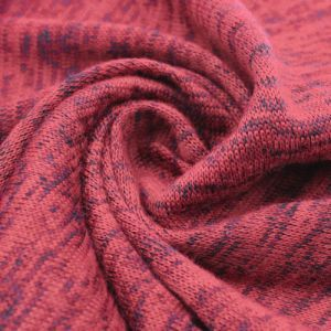 Brick Pale Hacci Melange Poly Spandex Fabric by the Yard