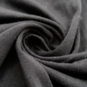 Black Rayon Siro Spandex Jersey Knit Fabric by the Yard
