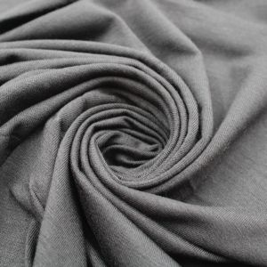 Charcoal Rayon Siro Spandex Jersey Knit Fabric by the Yard