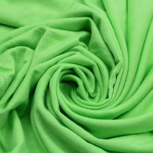 Green Apple Neon Rayon Siro Spandex Jersey Knit Fabric by the Yard