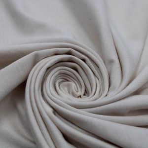 Natural Rayon Siro Spandex Jersey Knit Fabric by the Yard