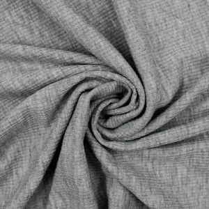 Heather Grey 2x1 Rib Knit Stretch Fabric by the Yard