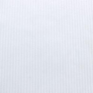 White Solid 4x2  Rib Knit Fabric