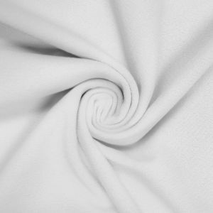 White Solid ITY Heavy Stretch Moss Crepe Fabric-215GSM