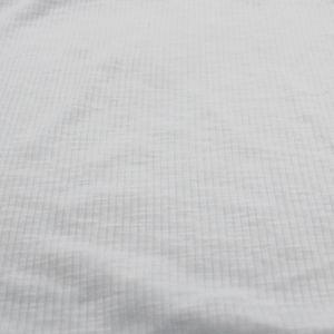 White Poly Cotton Spandex  4x2 Rib Knit Fabric