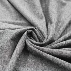 Charcoal 2 Tone Cotton Modal Fabric by the Yard