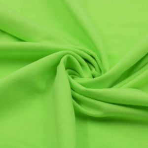 Green Apple Neon Cotton Modal Fabric by the Yard