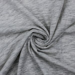 Heather Gray Light Cotton Modal Fabric by the Yard