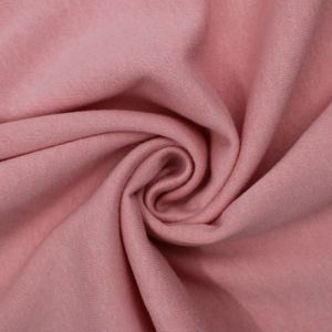 Dusty Pink Solid Color Poly Cotton Fleece Fabric by the Yard