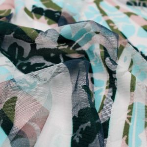 Blue Green Sea Breeze Power Mesh Fabric by the Yard - Style 8053