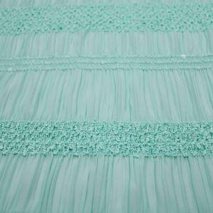 Green Mint Lt Chiffon Stretch Sequin Fabric