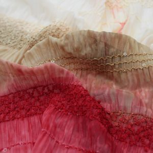 Natural D Chiffon Stretch Sequin Fabric