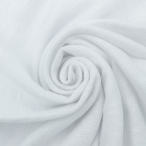 White 100% Cotton Slub French Terry Fabric by the Yard