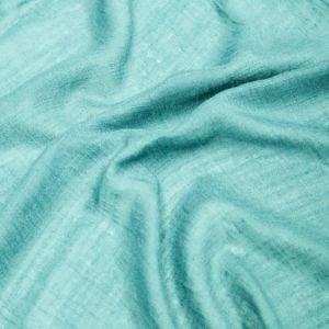 Aqua 58'' Swiss Gauze Tetron  Rayon Linen Gauze Fabric