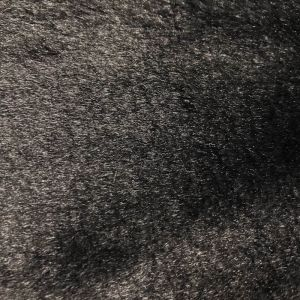 Black Pile Luxury Faux Fur Fabric by the Yard