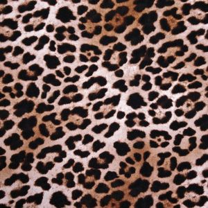 Black Choco Leopard Pattern Prints on Rayon Spandex Jersey Knit Fabric, DIY Project by the Yard