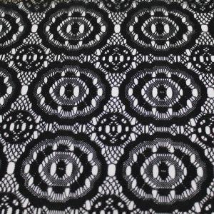 Black Ashley Pattern Lace Fabric