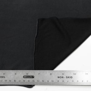 Black  Modal Poly Sand Wash Jersey Cupro Knit Fabric