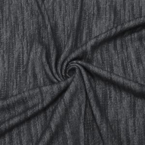 Black French Terry Loop Rayon Poly Slub Fleece Fabric