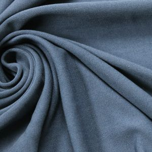 Blue  Modal Poly Sand Wash Jersey Cupro Knit Fabric