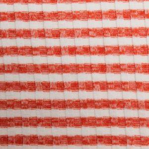 Bright Orange Hacci  Stripe 6x6 Rib Knit Poly Rayon Spandex Hacci Fabric