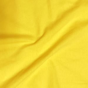 Bright Yellow Cotton Spandex Jersey Knit Fabric Combed 7oz