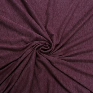 Burgundy Chambray- Solid Poly Rayon Spandex 160 GSM Light-Weight Stretch Jersey Knit Fabric