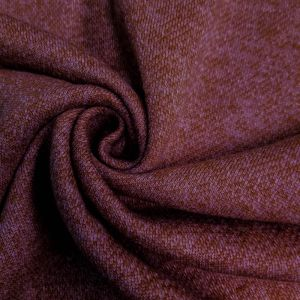 Burgundy French Terry Brushed Fleece Fabric