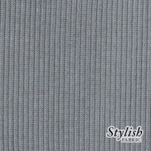Cement Dark 2x1 Rib Hacci Fabric