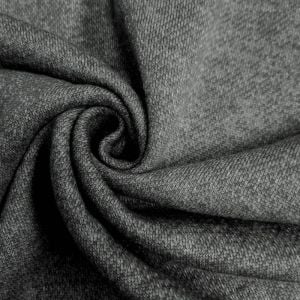 Charcoal 2 Tone French Terry Brushed Fleece Fabric