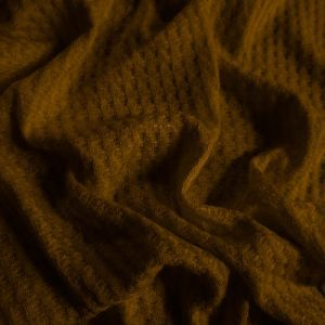 Copper  Waffle Rayon Spandex Open Knit Fabric