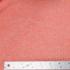 Coral Chambray 6x3 Brushed Poly Rayon Rib Knit