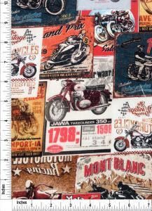 Motorcycle Race Prints on 100% Cotton Quilting Fabric