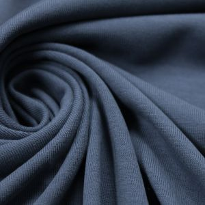 Denim Blue  Modal Poly Sand Wash Jersey Cupro Knit Fabric