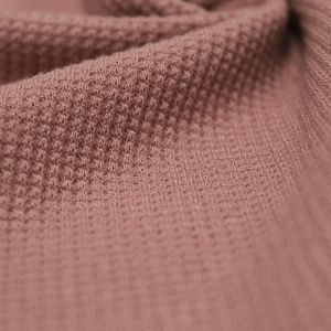 Dark Dusty Pink Solid Thermal Knit Fabric