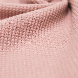 Dusty Pink Solid Thermal Knit Fabric
