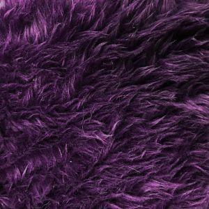 Eggplant Luxury Shag Faux Fur Fabric