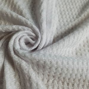 Heather Gray Light Waffle Rayon Spandex Open Knit Fabric