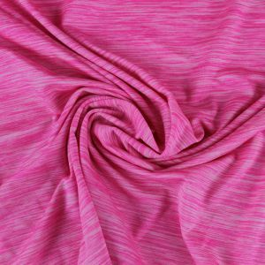 Hot Pink  Space Dye Poly Spandex Performance Tech Knit Fabric