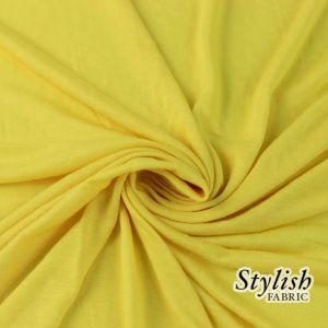 Yellow 100% Rayon Jersey Fabric