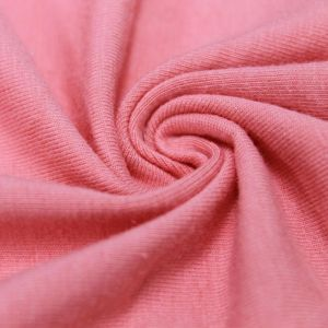 Pink Mamly Cotton Spandex Jersey Knit Fabric Combed 10oz