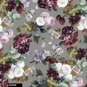 Cotton Floral Seamless Pattern 100%Cotton Quilting Fabric  by the Yard