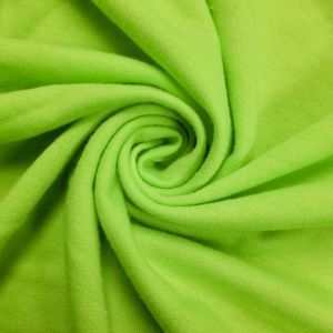 Lime Neon French Terry Spandex Fabric