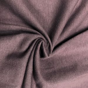 Mauve Dark Cotton Spandex Jersey Knit Fabric Combed 7oz