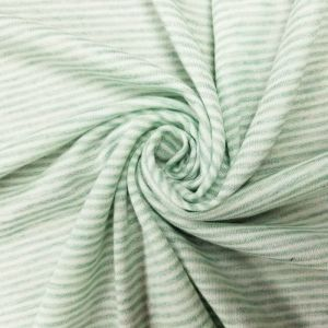 Mint French Terry Striped Poly Rayon Spandex Fabric