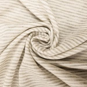 Natural French Terry Striped Poly Rayon Spandex Fabric