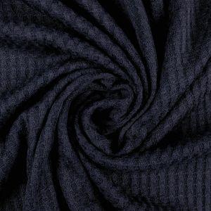 Navy B Waffle Rayon Spandex Open Knit Fabric